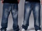 牛仔裤男大码外贸原单宽松嘻哈牛仔裤男装直板大码男裤 厂价批发