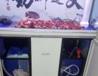 个人转让1.2米底滤森森成品鱼缸送红马罗汉鱼观赏鱼