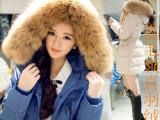 2014冬装新款韩版大码女装中长款加厚外套 好质量白鸭绒羽绒服女