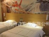 供应宾馆标间床公寓家具快捷酒店双人床组合柜成套家具厂家直销