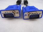 【厂家直销】3米蓝头VGA线 3+5芯液晶显示器线 VGA15针黑线蓝头线