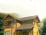 重庆木制别墅施工设计安装各种防腐木生态木屋设计安装