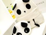 女包超萌背包囧包韩版初中学生书包帆布可爱憨厚熊猫双肩包毛绒包