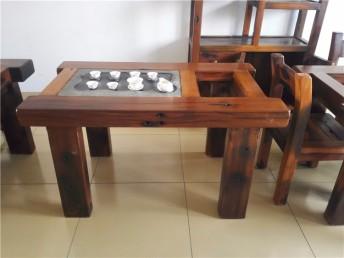 厂家直销木老船木茶桌椅 户外功夫茶桌