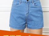 夏季新款2015韩版宽松阔腿高腰牛仔短裤女夏季显瘦卷边大码短裤潮
