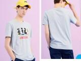 10元夏季男士短袖t恤圆领半袖男装韩版潮流印花打底衫体恤男