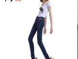 现货爆款 2014春夏新款欧洲站时尚牛仔裤 夏装 女式牛仔裤 批