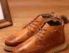 冬季男士棉鞋高帮鞋男鞋加绒韩版保暖休闲皮鞋英伦雕花布洛克潮鞋