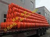 荆州护城河水上拦污浮筒,水电站拦污漂排,浮体厂家直销