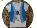 2014夏季童装新款 韩版男童马甲机器人T恤衫 厂家直销 热卖批