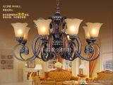 欧式吊灯仿古复古铁艺餐厅客厅卧室树脂吸顶灯吊灯