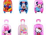 欧美 草莓女孩儿童拉杆箱旅行箱18寸万向轮男女箱包行李箱登机箱