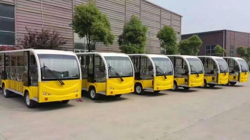 成都专业销售厂家百台样车燃油 电动观光车 巡逻车