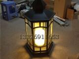透光性能好的草坪灯中式六角宫灯别墅草坪灯吊灯玻璃柱头灯