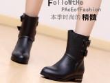 夏日阳光2013春秋新款 平底粗跟马丁靴子骑士靴女靴真皮短靴女
