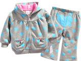 优质原单正品心型婴儿衣套装