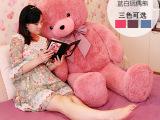 爆款1.6米情侣泰迪熊批发 女孩最爱多色大抱熊 热销大号毛绒玩具