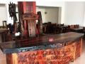 周口实木家具办公桌茶桌椅子老船木客厅家具沙发茶几茶台餐桌案台