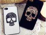 彩绘个性骷髅头iphone4s  5手机壳苹果4代保护套外壳