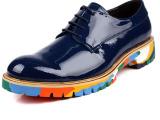JMH透气商务正装男皮鞋 真皮正品头层牛皮男鞋 男士漆皮系带皮鞋