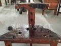 益阳直销万达老船木茶桌茶台批发厚板大台船木石槽茶桌