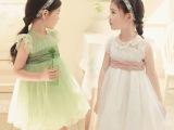韩版外贸原单童装夏款 小中女童蕾丝雪纺公主连衣裙 品质童裙