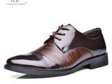 正品牛皮男鞋秋冬新款真皮男士商务皮鞋男正装皮鞋透气休闲皮鞋