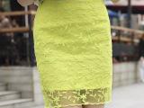 2015秋装新款蕾丝包臀裙修身短裙女铅笔裙A字一步裙高腰半身裙子