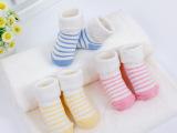 毛圈翻口宝宝袜子 纯棉松口宝宝棉袜 保暖秋冬新生儿婴儿袜童袜