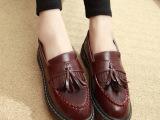 2014新款春季韩版潮厚底豆豆鞋欧美复古休闲女鞋平底平跟松糕单鞋