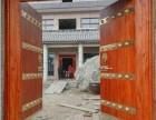 中式實木仿古大門雙開木門別墅復古門松木庭院入戶大門