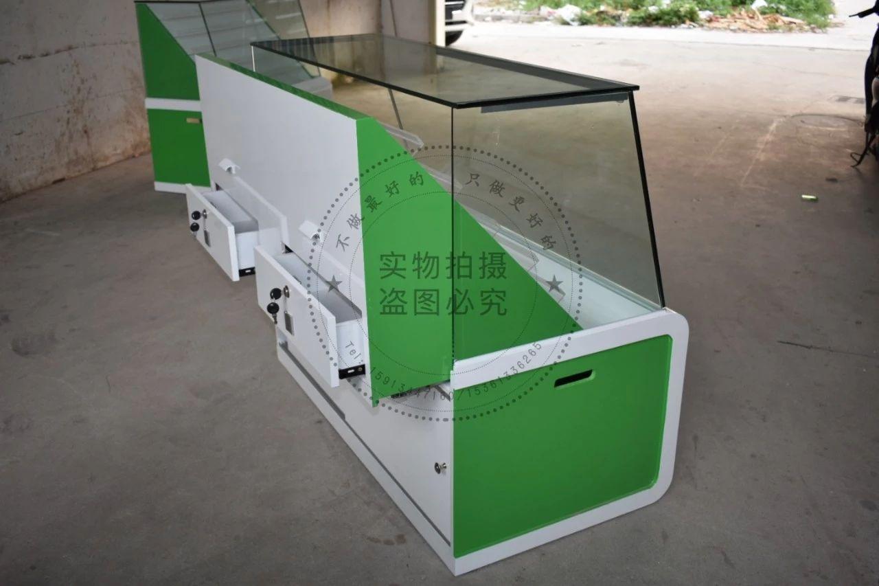 定制出售中国烟草销售柜玻璃柜转角柜收银台烟酒高柜