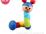 儿童玩具 百变扭扭人 彩虹人毛毛虫 益智早教木制玩具