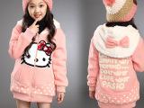 双面穿2014冬季韩版童装儿童卫衣加厚款女中大童外套批发品牌