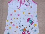 100%纯棉儿童睡衣睡裙夏季短袖亲子装童