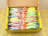 整盒30支七彩波板糖创意棒棒糖果另有金稻谷小礼盒特大批发