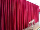 舞臺幕布 定做禮堂大幕 電動開合幕 電動會標 婚禮紗幕