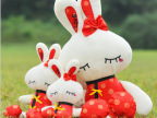 毛绒玩具小额批发 唐装兔 情侣兔 婚庆娃娃 公仔