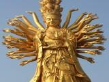 墻壁油漆涂料用默克黃金粉 佛像噴涂用水晶金色珠光粉