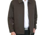 特价 中老年男装薄款拉链上衣 中年人夹克衫翻领爸爸装春秋外套