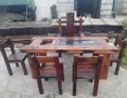 厂家直销老船木博古架酒吧台功夫茶桌椅实木餐桌椅