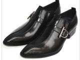 外单专柜正品男士搭扣皮鞋英伦复古商务正装尖头皮鞋真皮男鞋37码
