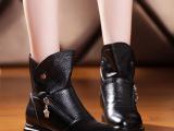 2014秋冬季新款欧洲站真皮女靴子欧美舒适内增高马丁靴 短靴批发