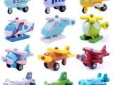 外贸玩具 木制可动小飞机模型 工艺12件新款