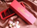 韩国烘焙包装 情人节酒红色六粒装马卡龙盒/巧克力盒/点心饼干盒