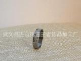 供应钛钢不锈钢磨砂戒指 批花首饰 珍珠砂