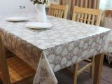 厂家直销印花蕾丝桌布水晶软玻璃花朵西餐垫布餐垫台布耐热免水洗
