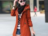 风衣女中长款外套春秋韩国修身百搭显瘦2014女式新款秋冬外套