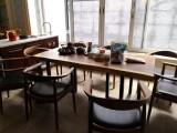 南美胡桃木实木大板餐桌茶桌办公桌