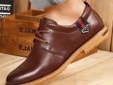2015温州新款秋季男鞋真皮休闲鞋子品牌外贸潮鞋男士皮鞋厂家批发